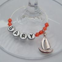 Boat Wine Glass Charms